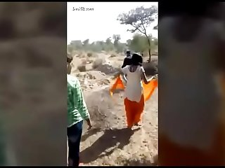 Desi village lover caught in field