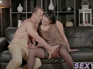 Breasty dark brown mother i'd like to fuck eva ann acquires hammered apart from aged knob