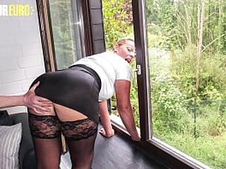 AMATEUR EURO - Mature Blondie Tanja Gets Hardcore Fucked At the end of one's tether Dabbler