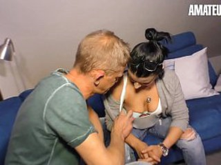 AMATEUR EURO - Remarkable Unpaid Sex With A Super Hot Brunette Elegant Devil And Horny Husband