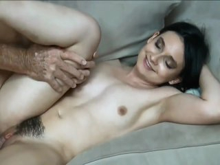 60yo father wide big cock fucks his real 18yo hairy daughter wide creampie