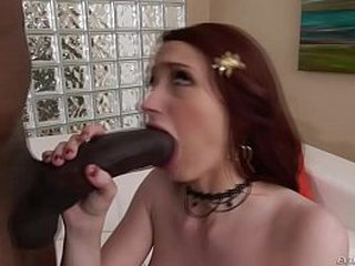Horse sized black load of shit stretches Violet Monroe's holes