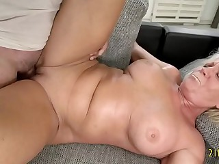 Fantastic Granny With Big Knockers Nails With a Big Cock
