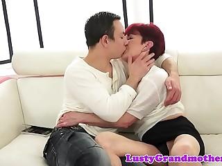 Redhead grandma gets screwed check b determine foreplay