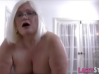 Gran masseuse licks with an increment of rides cock