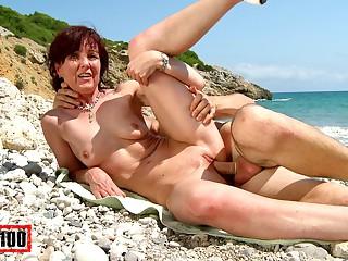 Joycelina & Kevin Pallid relative to Hot French Milf On A Sunny Margin - MMM100