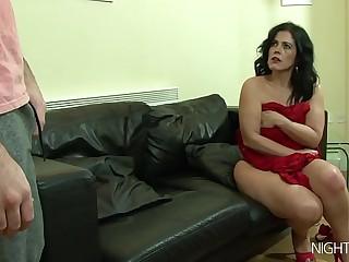 My stepmom masturbating befitting now!