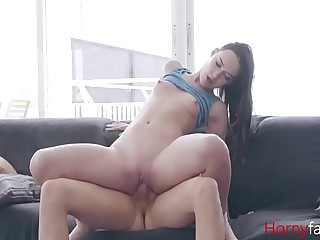 Horny Keep alive Watches Family Porn & Fucks Brother- Sasha Sparrow