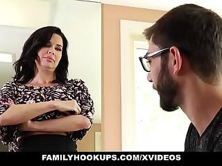 FamilyHookups - Hot Milf Teaches Stepson How Respecting Enjoyment from