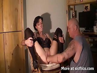 Brute pussy fisting orgasms