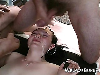 Cumming phizog amateur faces together with mouths