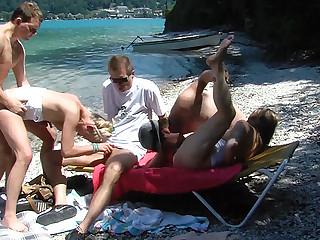 public family marinate beach orgy