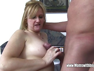 Stepmom Punishes Son For Having A Adding machine Overflowing Porn