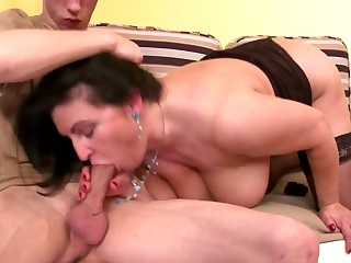 MOM son's lash friend hot old increased by young prop