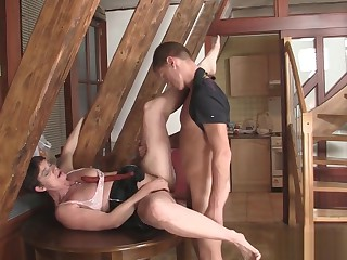 Frying girlfriends female parent seduces little one inlaw