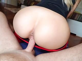 Blonde Teen regarding Yoga Pants gets Fucked and Creampied - Cumtonic
