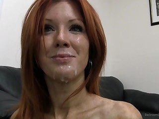 31yo soccer mom of three, Dani! Unintended insemination, lily-livered anal, facial together with cum gagging.