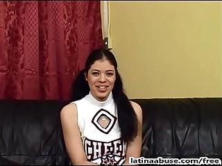 Exploitative facefucking for cute cheerleader Gabriella Velez